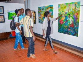 Youth in a gallery